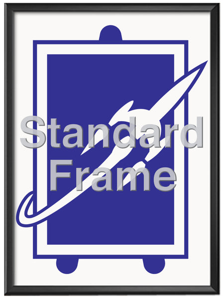 12in x 36in Standard Framing