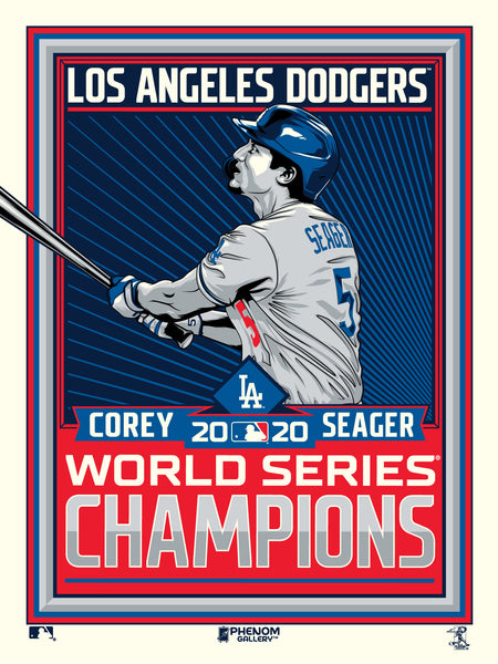 Los Angeles Dodgers Corey Seager 2020 World Series Champs Print