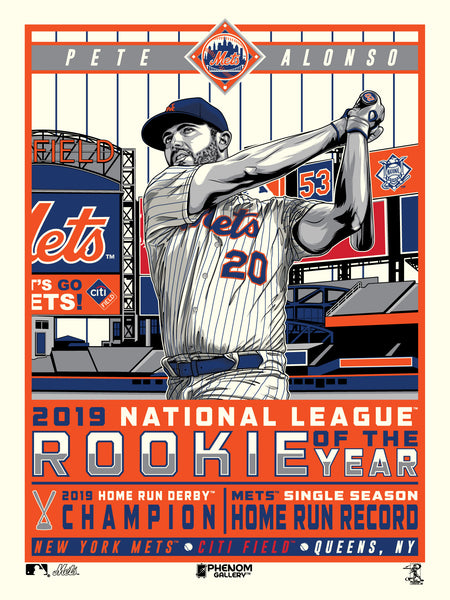 New York Mets Pete Alonso 2019 Rookie of the Year 18x24 Serigraph