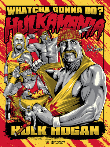 WWE Hulk Hogan Hulkamania Limited Edition Serigraph (Printer Proof)