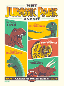 "Jurassic Park 25th Anniversary Perillo 18""x24"" Limited Edition Serigraph (Phenom Online Exclusive)"