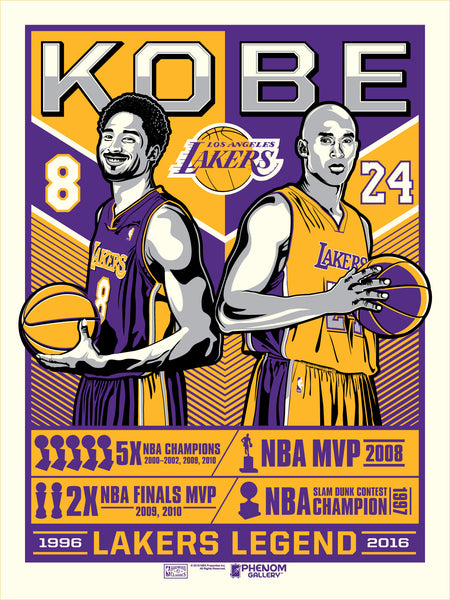 Los Angeles Lakers™ Kobe Legend Serigraph