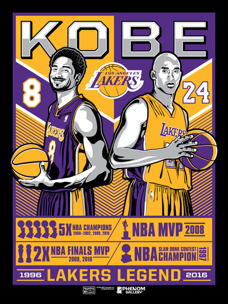 Los Angeles Lakers Kobe Legend Serigraph (Black Mamba Edition)