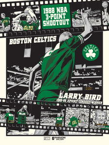 Boston Celtics Larry Bird Legendary Moment Serigraph