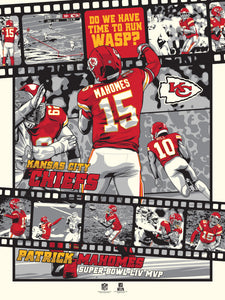 Kansas City Chiefs Super Bowl LIV Legendary Moments Serigraph Print