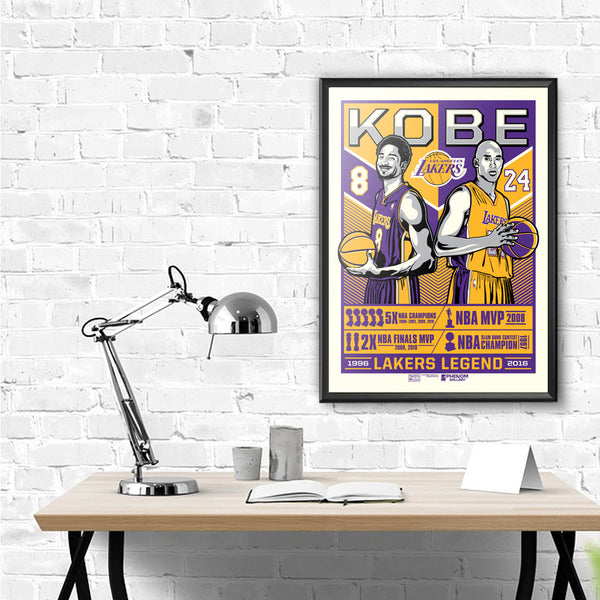 Los Angeles Lakers Kobe Legend Serigraph