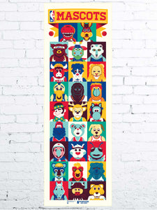 NBA Mascots Serigraph- Presell Ships June 15th