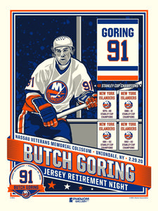 New York Islanders Butch Goring Number Retirement Serigraph (Printer Proof)