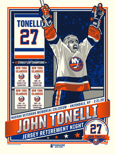 New York Islanders John Tonelli Number Retirement Serigraph (Printer Proof)