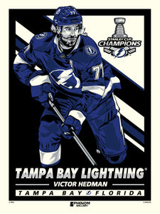 Tampa Bay Lightning 2020 Stanley Cup Champions Victor Hedman Serigraph Print
