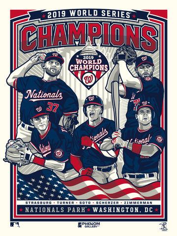 Washington Nationals 2019 World Series Champions Serigraph