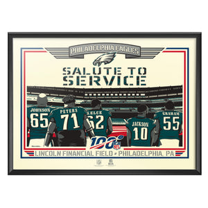 Philadelphia Eagles 2019 Salute To Service Serigraph