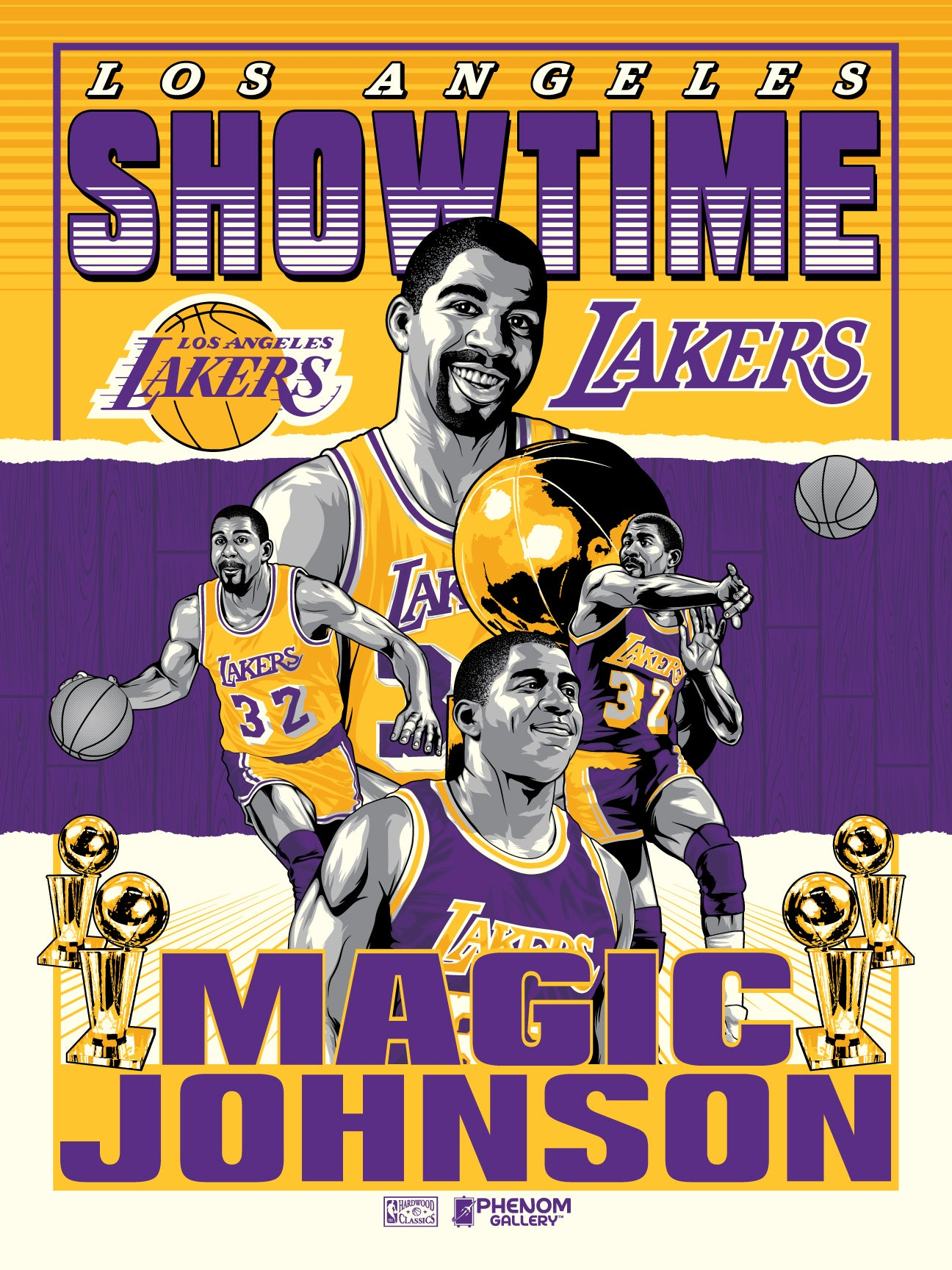 "Los Angeles Lakers ""Showtime"" Magic Johnson Serigraph"