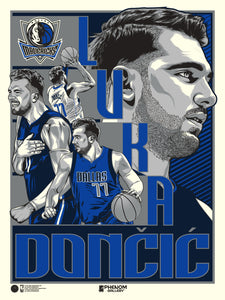 Dallas Mavericks Luka Doncic Serigraph