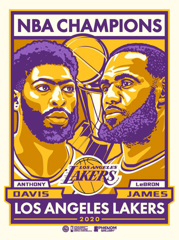 Lakers 2020 NBA Champs Limited Edition Print