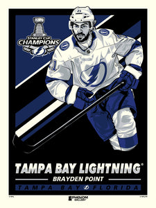 Tampa Bay Lightning 2020 Stanley Cup Champions Brayden Point Serigraph Print