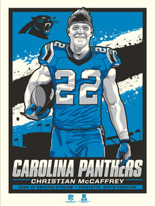 Carolina Panthers Christian McCaffrey Serigraph