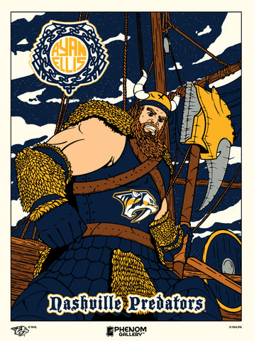 Nashville Predators Ryan Ellis Serigraph Print (Printer Proof)