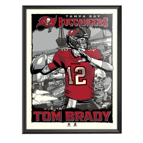 "Tampa Bay Buccaneers Tom Brady 18"" x 24"" Serigraph"