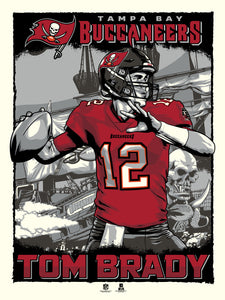 "Tampa Bay Buccaneers Tom Brady 18"" x 24"" Serigraph - PRESELL OCTOBER 5th, 2020"