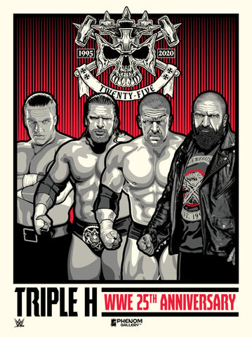 WWE Triple H 25th Anniversary Limited Edition Serigraph