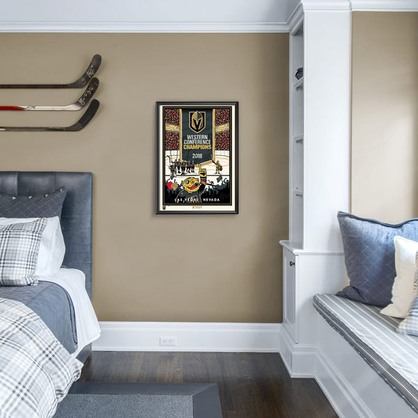 Vegas Golden Knights Western Conference Champs Serigraph