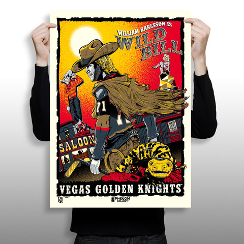 "Vegas Golden Knights ""Wild Bill"" Serigraph (Printer Proof)- Presell Ships June 15th"