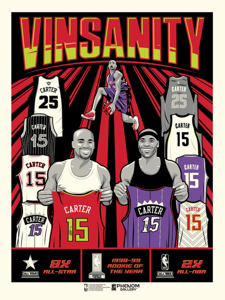 Vince Carter Vinsanity Limited Edition Serigraph