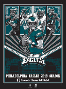 Philadelphia Eagles 2019 Season Serigraph- Presell Ships June 15th