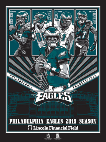 Philadelphia Eagles 2019 Season Serigraph