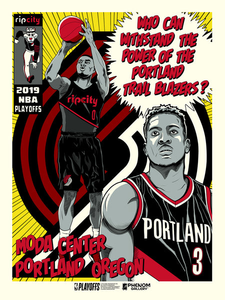 Portland Trailblazers 2019 NBA Playoffs Serigraph (Printer Proof)