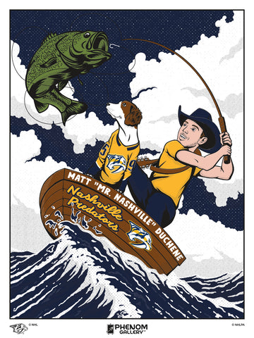 "Nashville Predators Matt ""Mr. Nashville"" Duchene Serirgraph Print (Printer Proof)"
