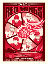 """Detroit Red Wings™ 2017-18 Season"" Dave Perillo Limited Edition Serigraph (Printer Proof Edition)"