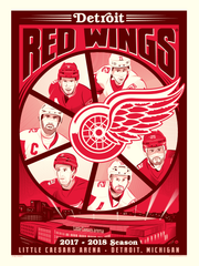 Detroit Red Wings™ 2017-18 Season Dave Perillo Serigraph (Printer Proof)