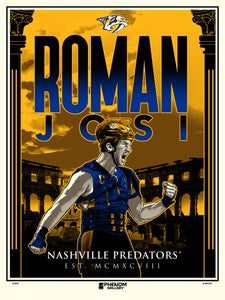 Nashville Predators Roman Josi Serigraph Print (Printer Proof)