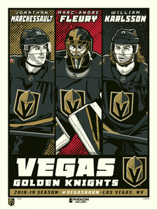 Vegas Golden Knights Superstar Set Serigraph- Presell Ships June 15th