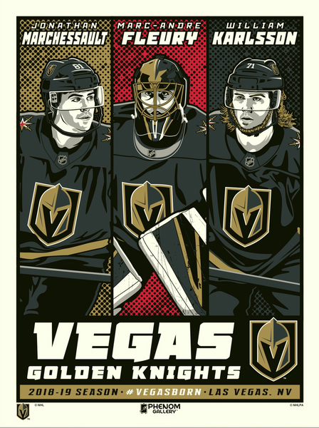 Vegas Golden Knights™ Superstar Set Stolitron Serigraph