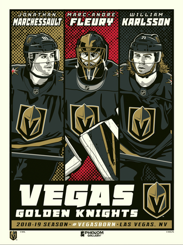 Vegas Golden Knights Superstar Set Serigraph