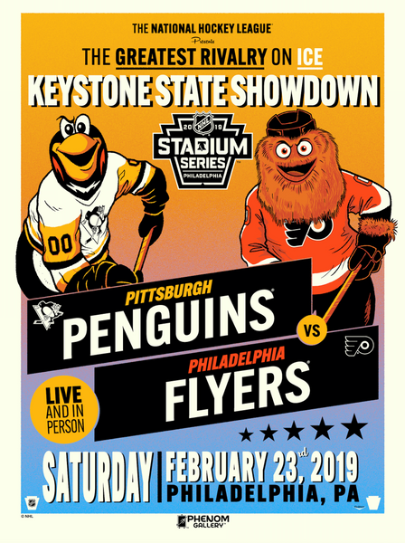 NHL Stadium Series™ 2019 Penguins™ vs Flyers™ Serigraph (Printer Proof)