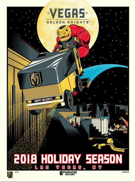 Vegas Golden Knights 2018 Holiday Season Serigraph