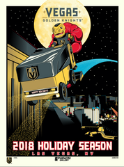 Vegas Golden Knights™ 2018 Holiday Season M. Fitz Serigraph-PRESELL-SHIPS 12-5