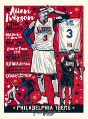 "Philadelphia 76ers Allen Iverson ""The Answer"" Serigraph (Printer Proof)"