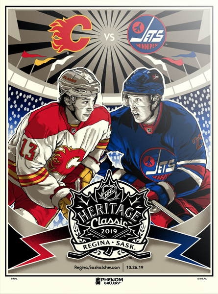 NHL Heritage Series 2019 - Flames vs Jets Serigraph