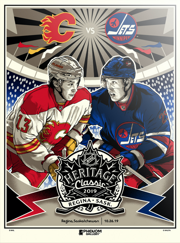 NHL Heritage Series 2019 - Flames vs Jets Serigraph (Printer Proof)