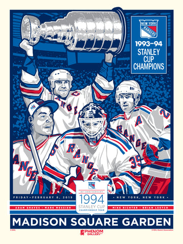 New York Rangers 25th Anniversary Stanley Cup Champions Serigraph (Printer Proof)
