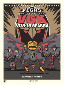 Vegas Golden Knights 2018-2019 Season Serigraph
