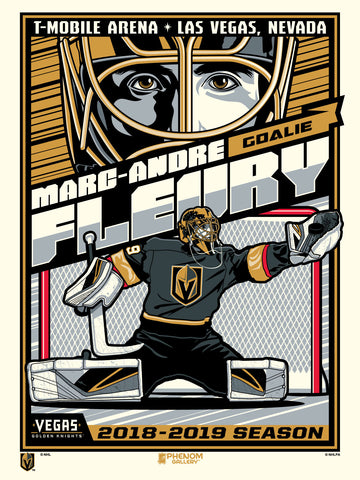 Vegas Golden Knights Marc-Andre Fleury Serigraph (Printer Proof)