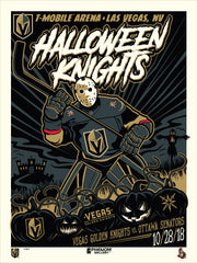 Vegas Golden Knights™ Halloween 2018 Stolitron Serigraph (Printer Proof)