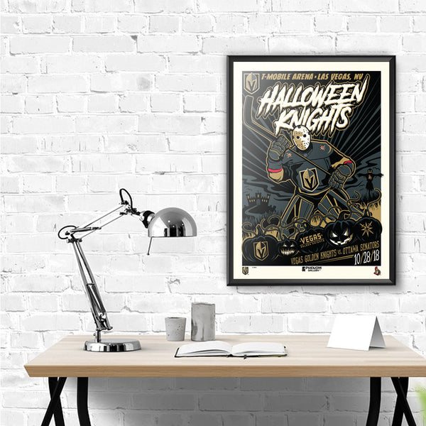 Vegas Golden Knights Halloween 2018 Serigraph (Printer Proof)