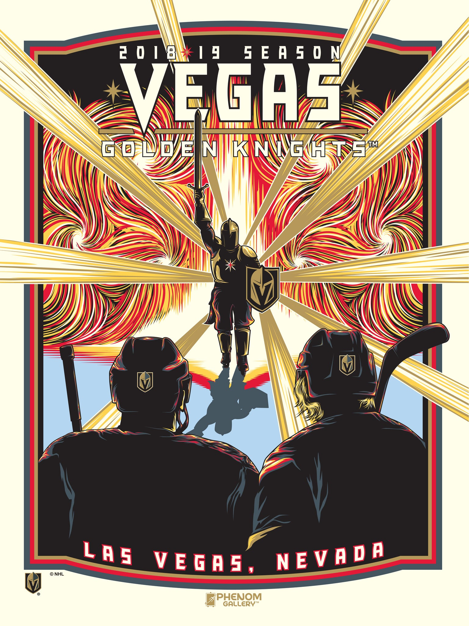 "Vegas Golden Knights 2018-19 Season ""Spellbound"" Serigraph- Presell Ships June 15th"